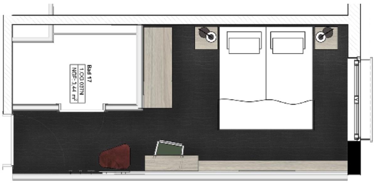 Grundriss Komfort Zimmer