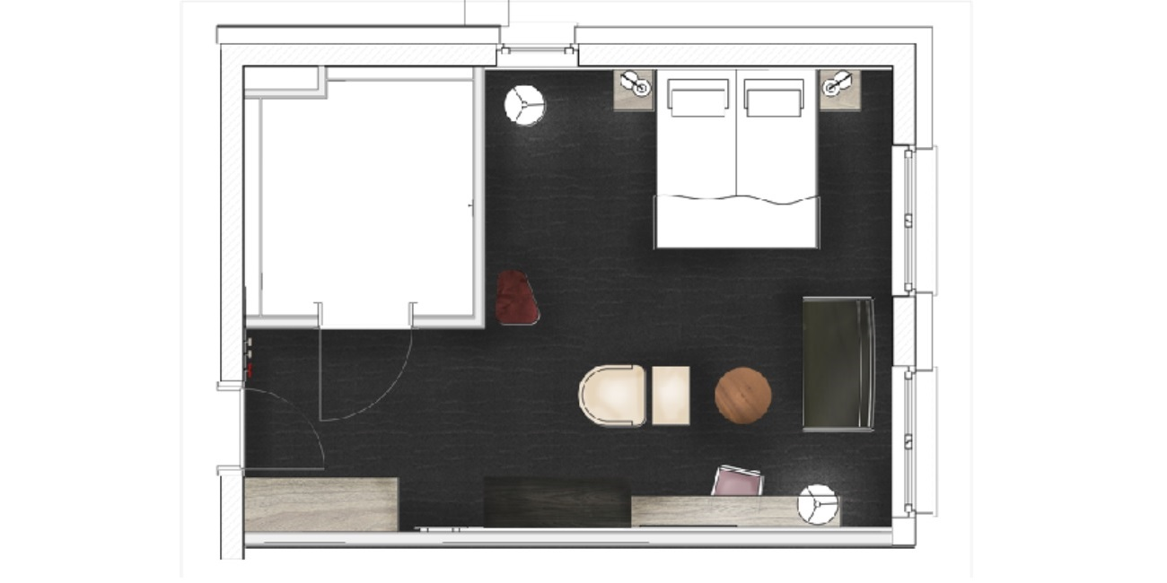 Grundriss Exklusiv Zimmer
